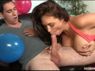 Mother Finds Oral Sex Fun Amidst Birthday Preparations