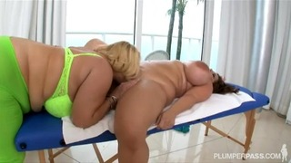 Curvy Chubby Pornstars Samantha 38g & Maria Moore In Sexy Lesbian Sex
