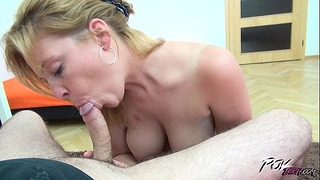 First Anal Tryout for Babe With Natural Big Tits