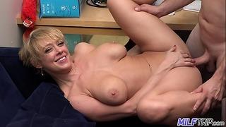 Milf Trip – Super Horny Blonde Big-boobed Milf Can't Get Enough Cock – Part 1