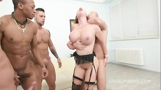 Busty Prolapsing Mature Cathy Heaven Testicles Deep Double Anal Penetration Skull Fuck to Tunnel Vision!