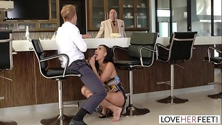 Loveherfeet – Passionate Fuck With Sexy Brunette Amia Miley Behind Her Boyfriends Back